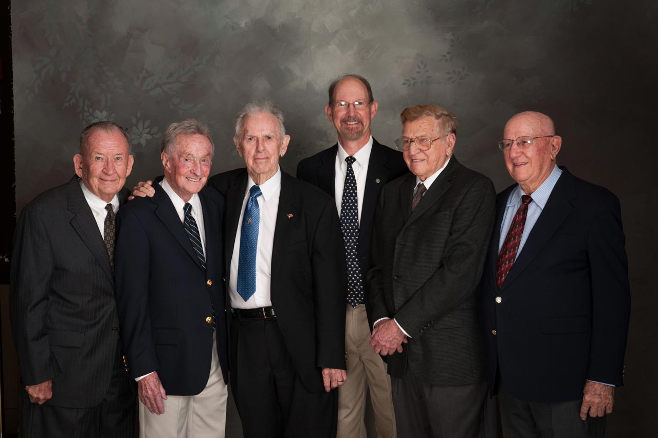 Bert Seal, Hugh Renfro, Bill Hayes, David Jessich, Ed Zuwarel and Al Porto