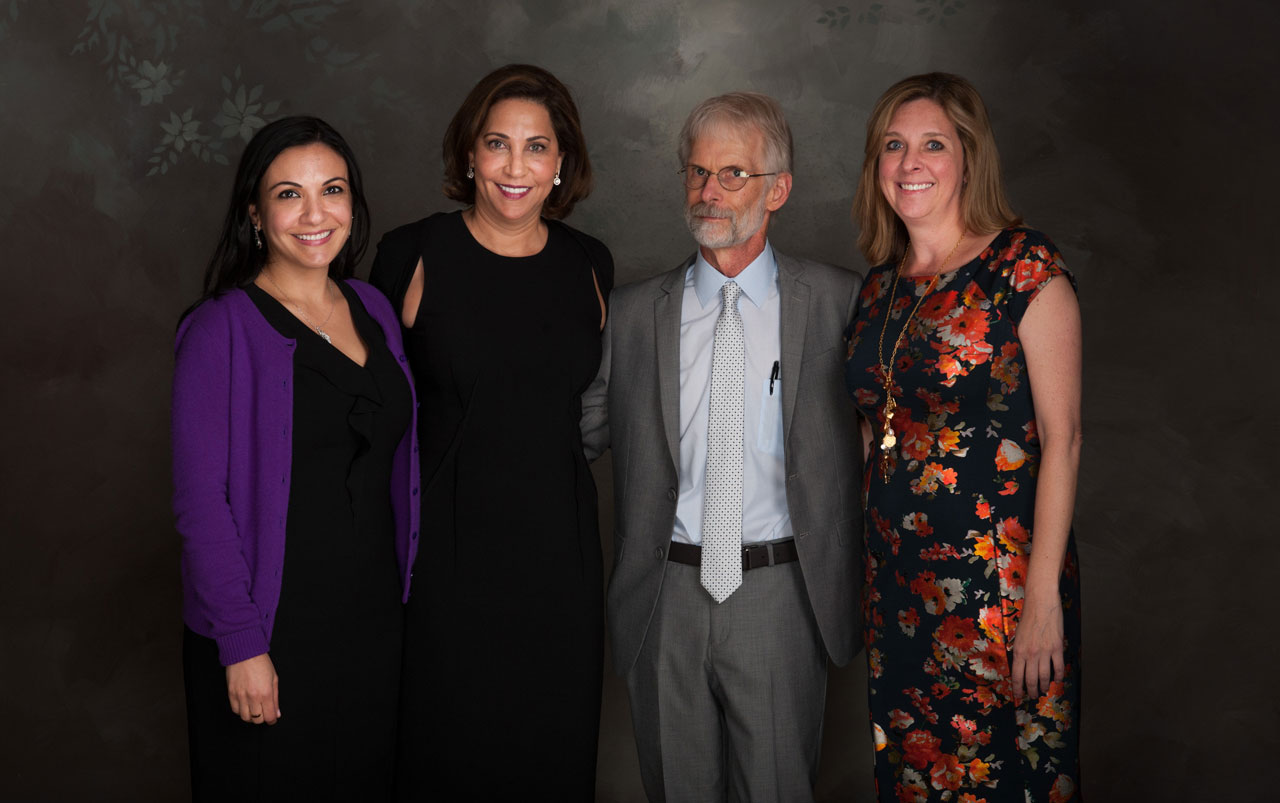 ASC contingent: Judy Sultan, Alma Kombargi, Arthur Clark and Heather O'Connor