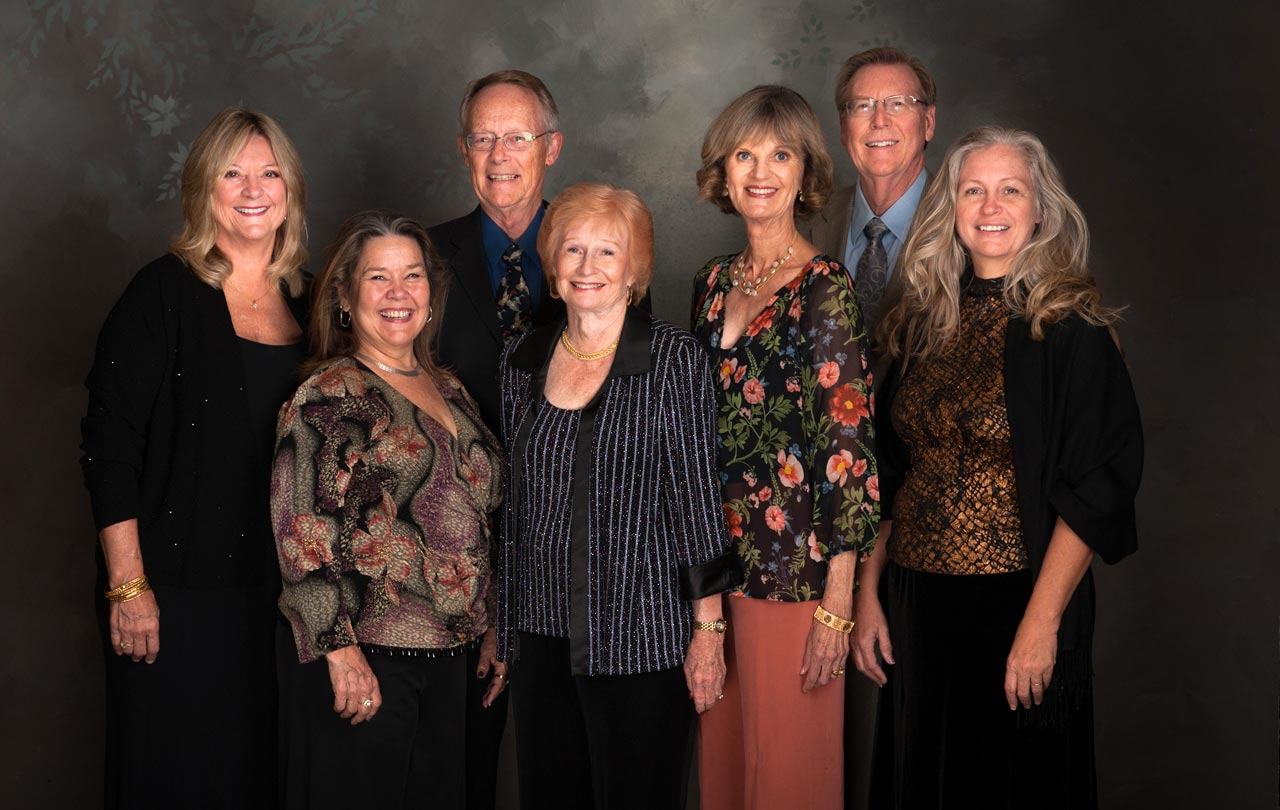 Carol Hudson, Sandra Mauldin, Dick and Jeanne Ebner, Sue and Jeffrey Nelson, Wanda Stults