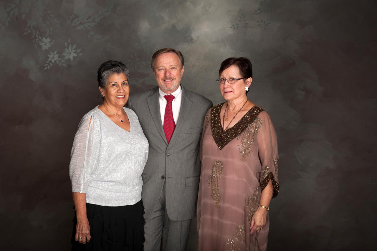 Juana Johnson and Dieter and Connie Preisen