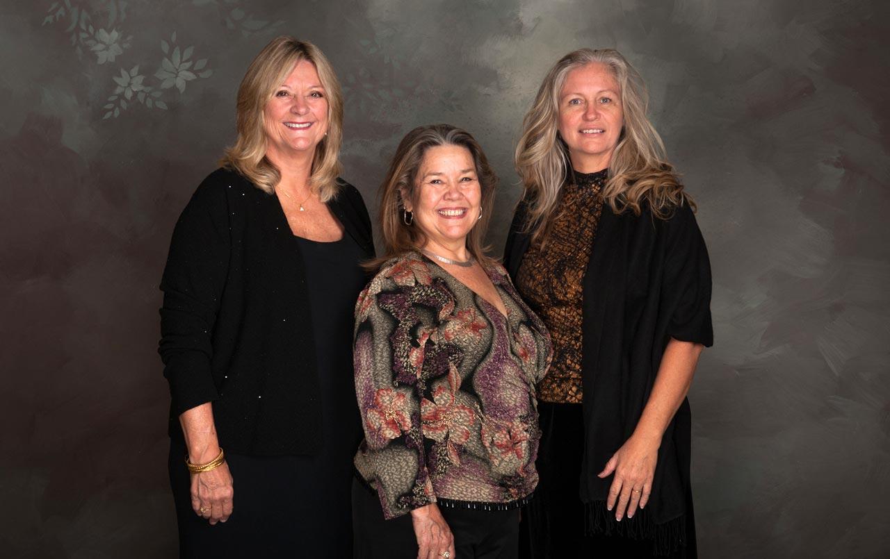 Carol Hudson, Sandra Mauldin and Wanda Stults