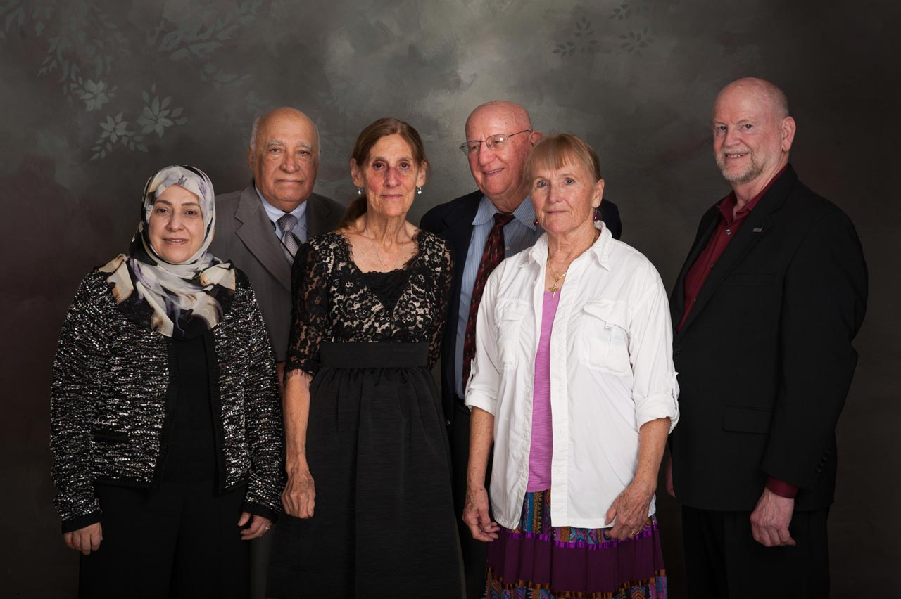 Amira and Ali Baluchi, Elizabeth Tahir, Al Porto, Kathleen and Terry Van Ballegooijen