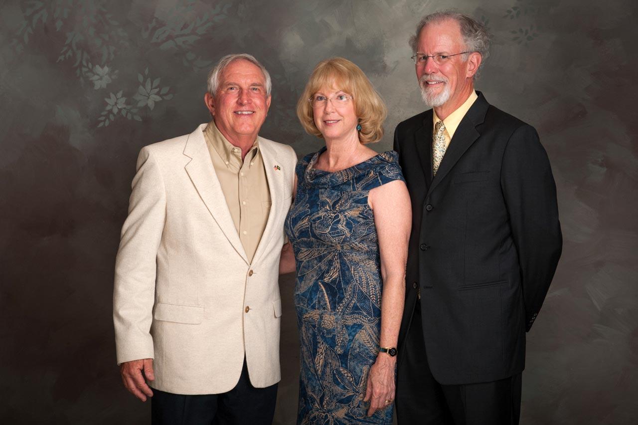 Gary and Nancy Howell and David Sherwood