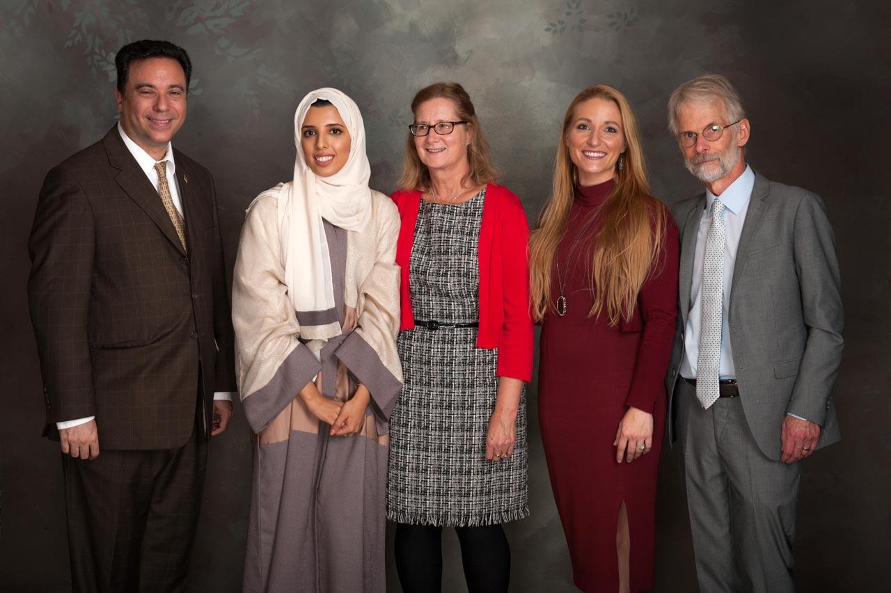 David Lugo, ASC; Farah AlSharif and Debbie Edwards, King Abdulaziz Center for World Culture; Melissa Altman and Arthur Clark, ASC