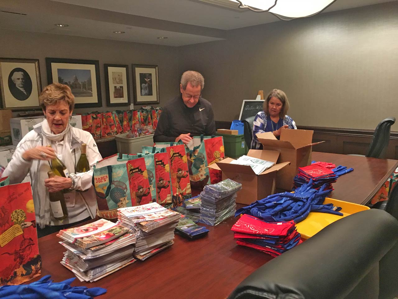 Busily Filling Gift Bags
