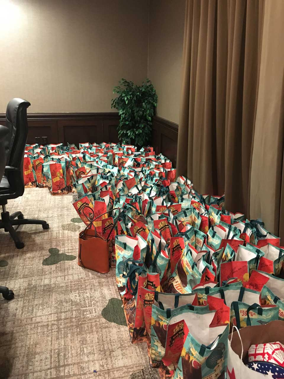 Look at all those Gift Bags!