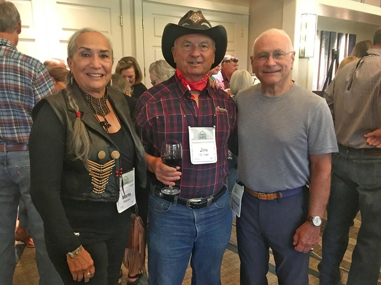 Marta Ramos and Jim Milliken with Edmund Dymicki