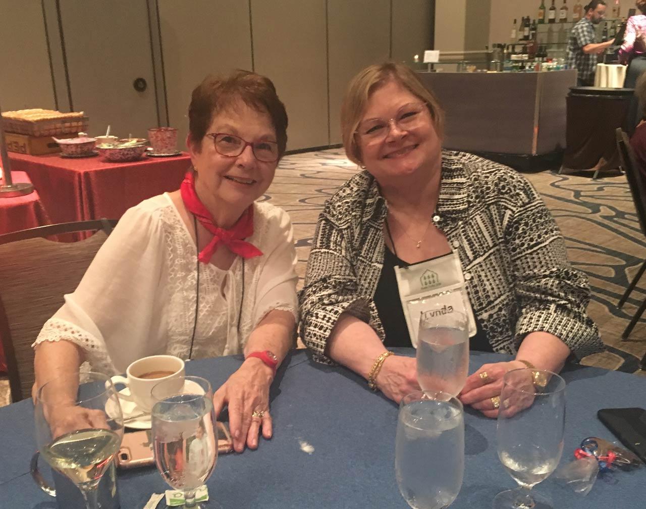Lynda with friend