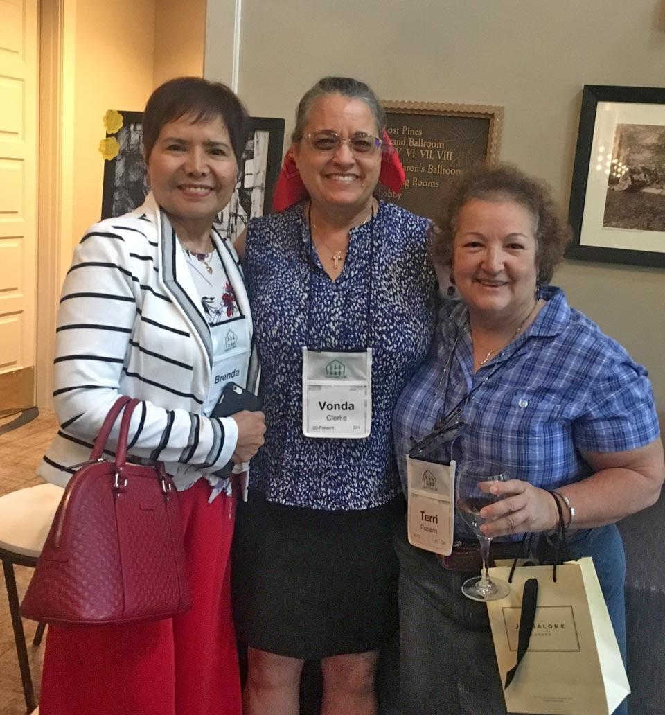 Brenda Javier, Vonda Clerke, and Terri Roberts