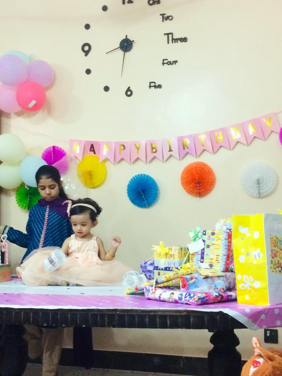 Zara Imran and Baby Ayra playing and enjoying together.