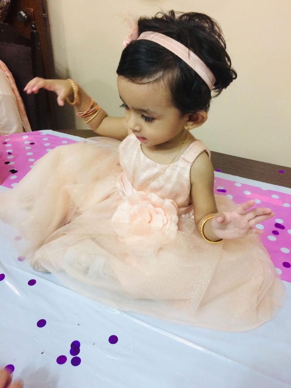 The birthday girl, Baby Ayra Khan.