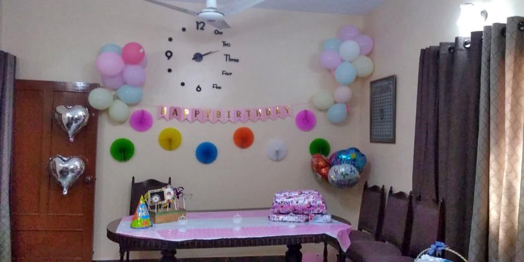 Ayra's birthday decorations.