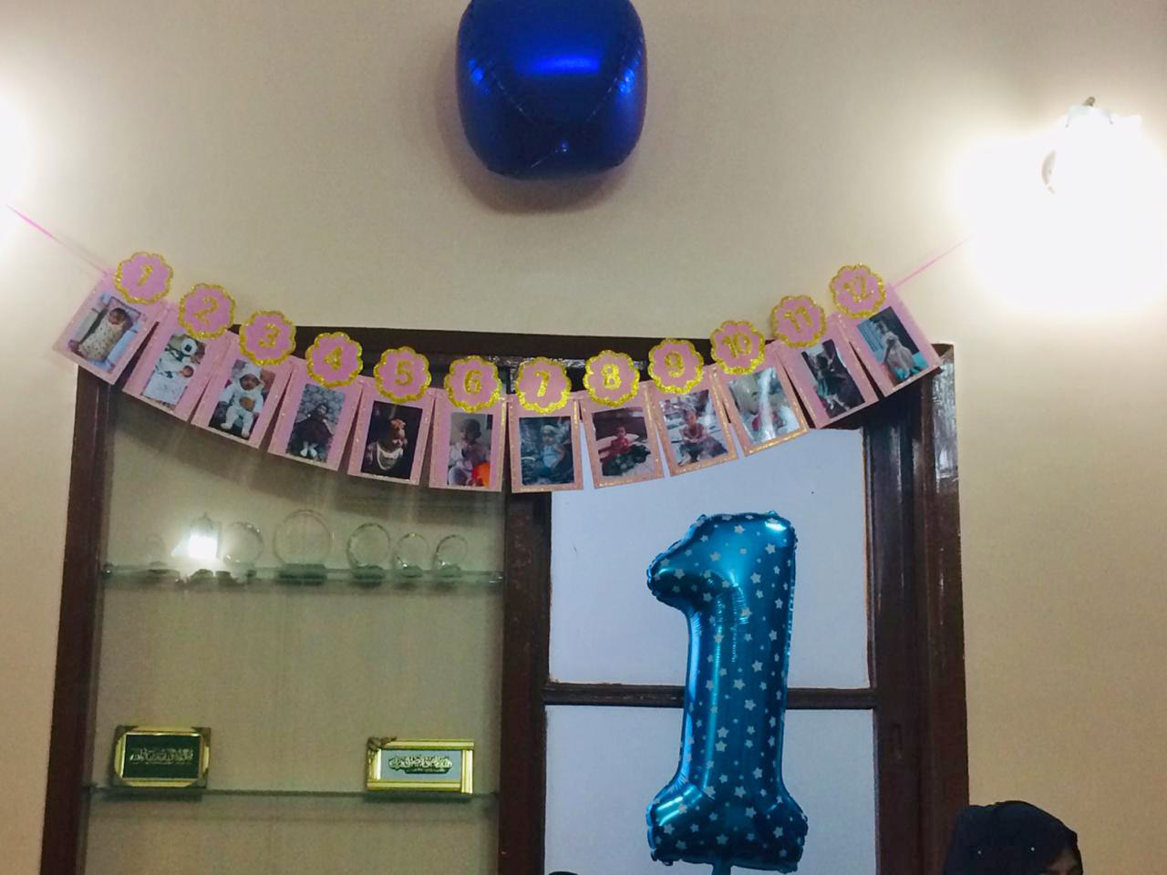 Baby Ayra's timeline and balloons.