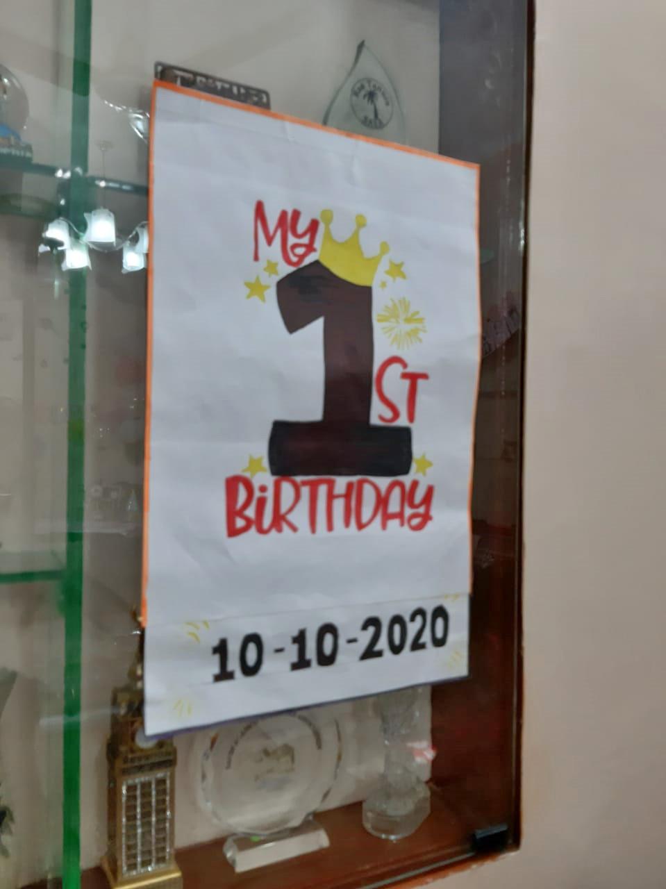 The poster Zara IMRAN made for Ayra's birthday.