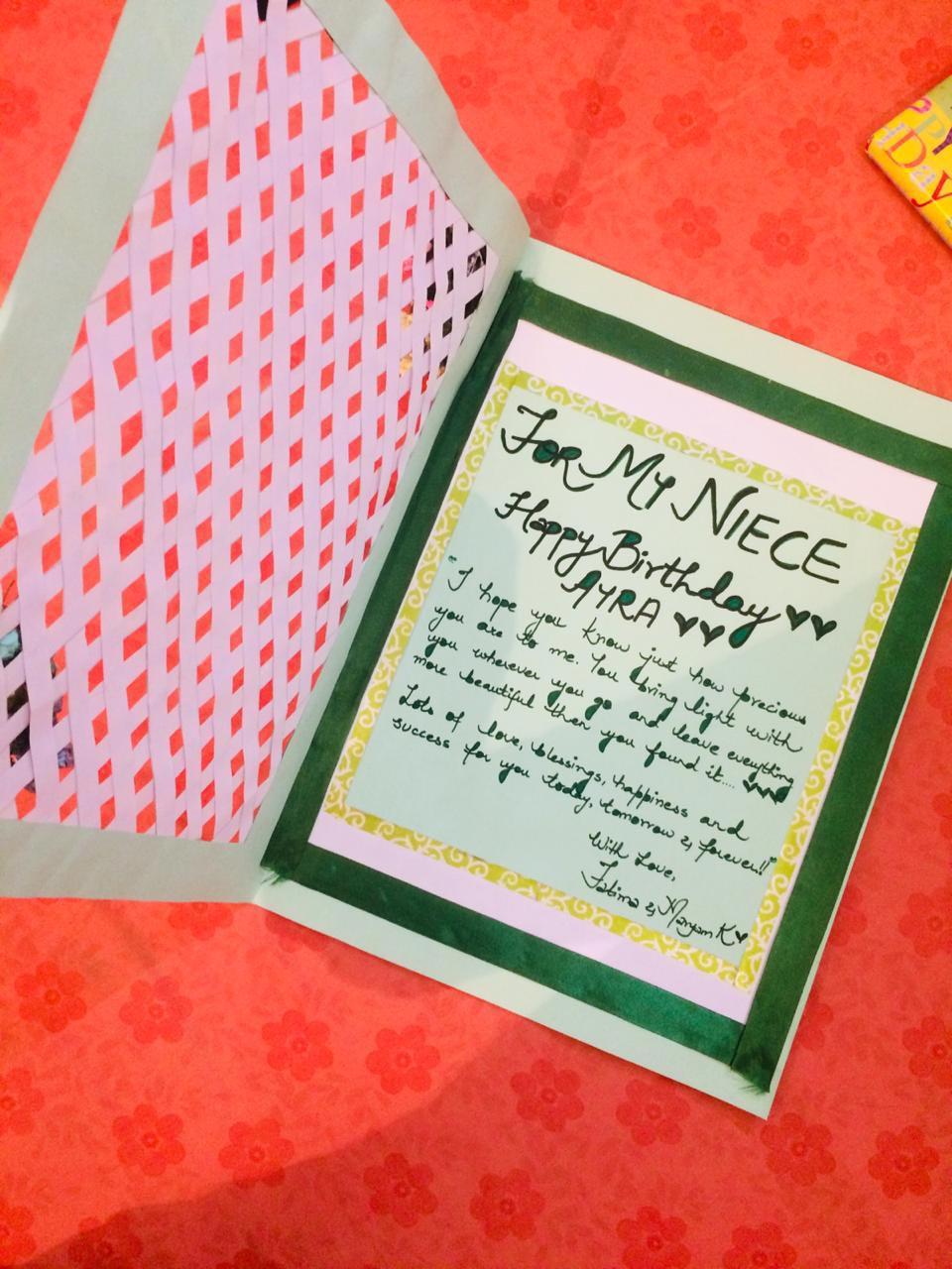 Birthday Card from Ayra's Fatima Khala