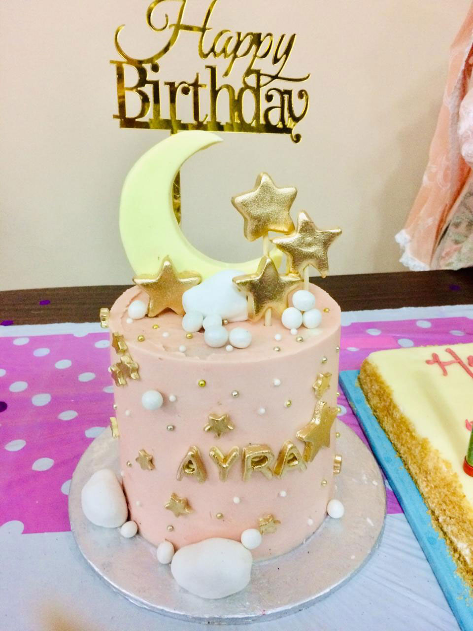Baby Ayra's beautiful birthday cake