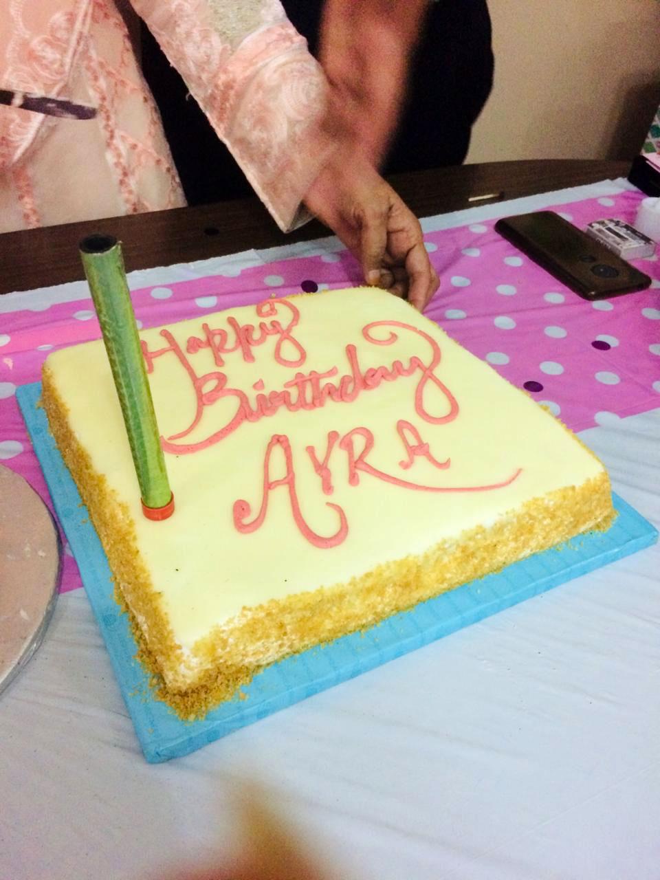 Ayra's second vanilla cake.