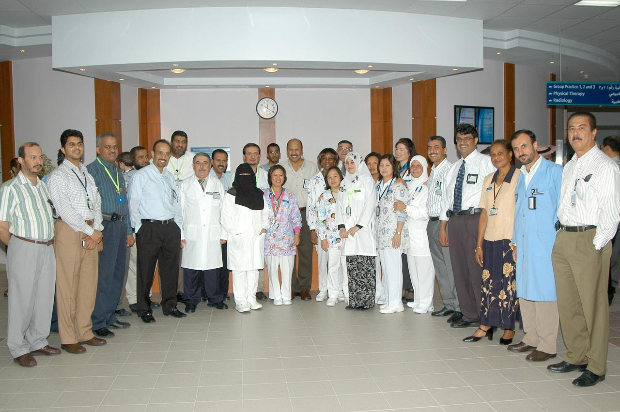 Shirley Seymour, Mr. Jumah, New Clinic Opening Abqaiq 2005