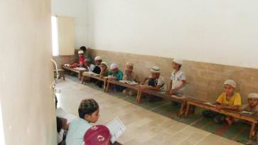 The Quran class for boys