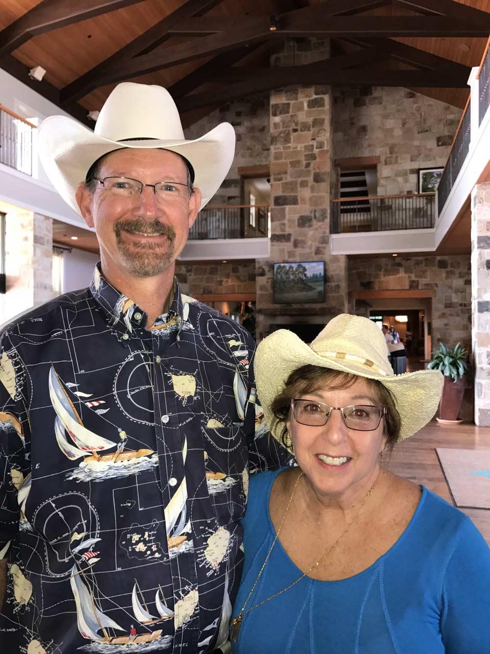 David and Vicki in lobby