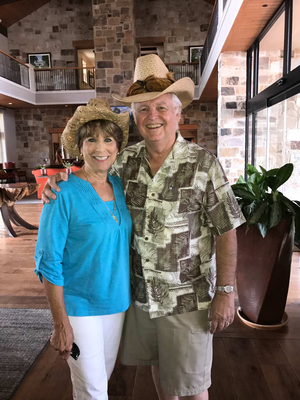 Bill and Judy in lobby