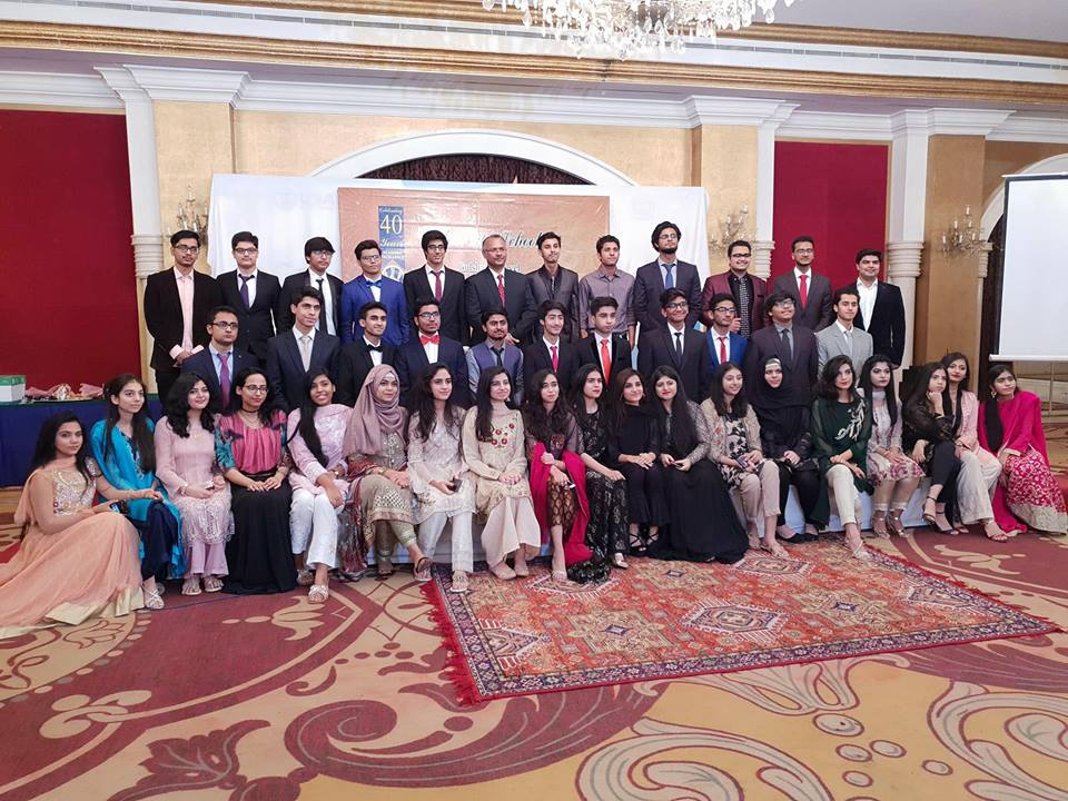 The City School Gulshan class fellows, teachers and administration at Hotel Moven Pick, Karachi, Pakistan