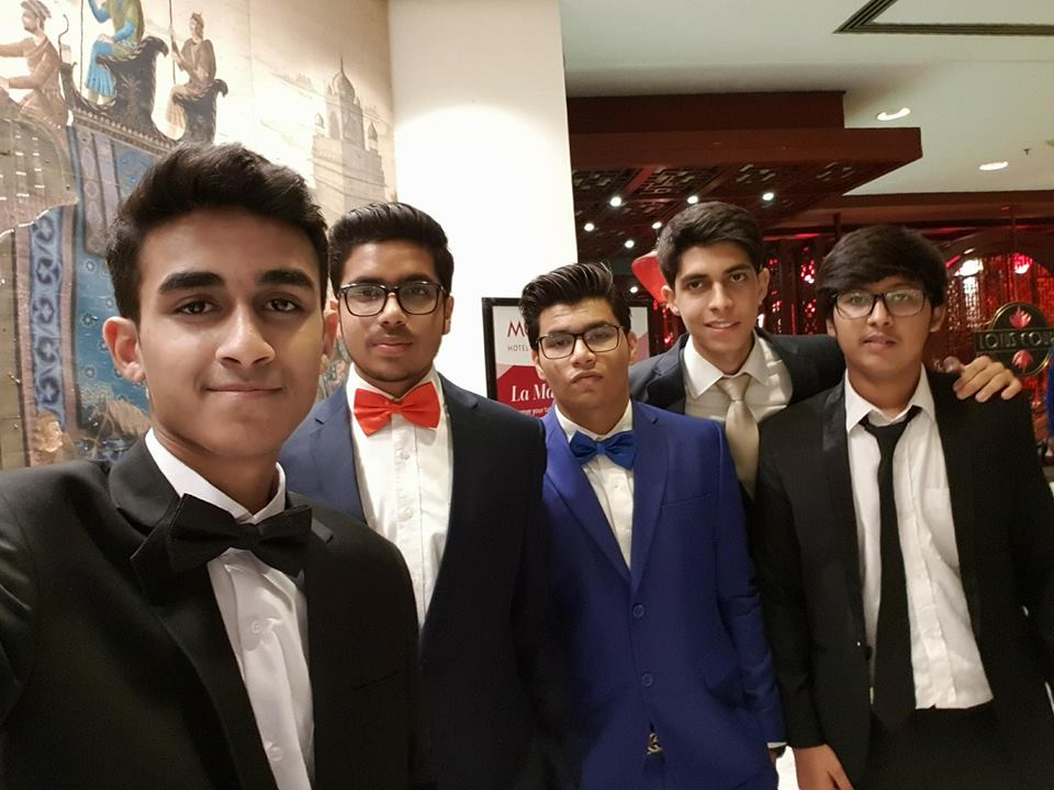 Syed Arzam Sher with Friends