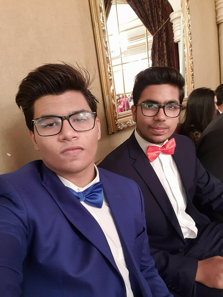 Syed Arzam Sher with Friend