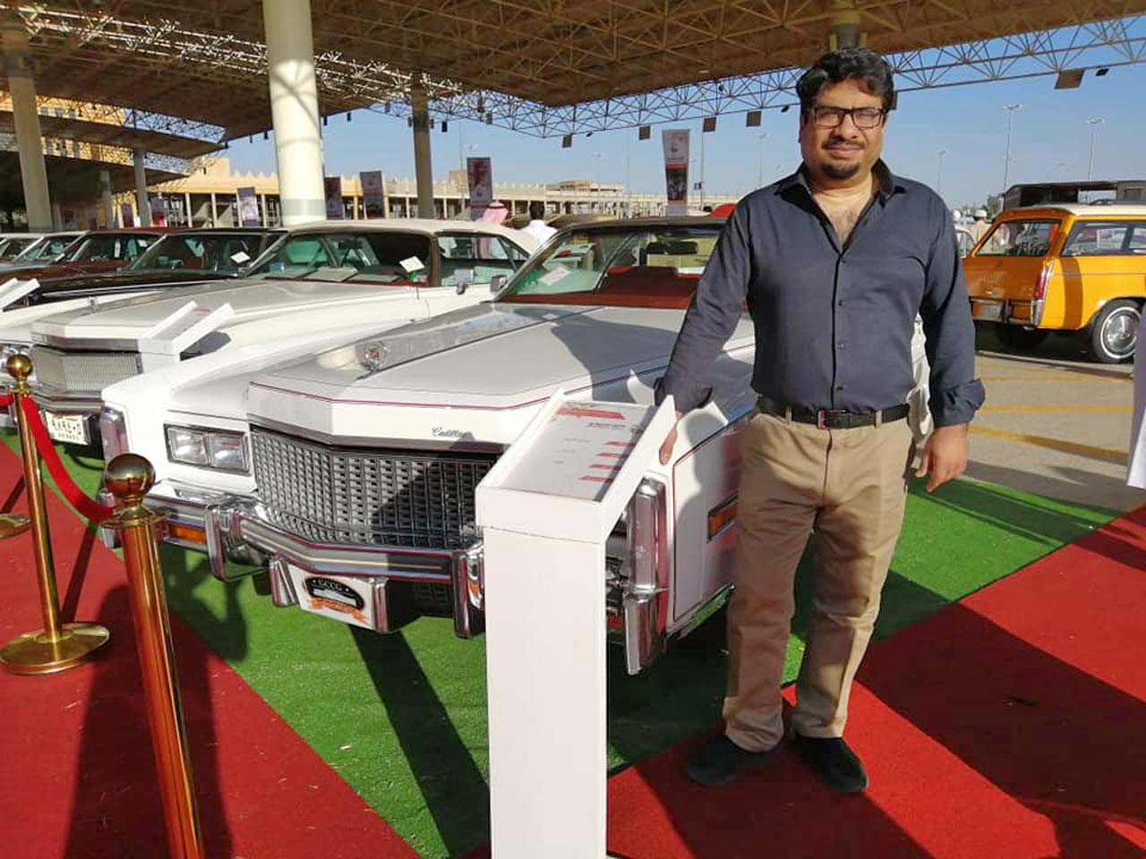 Dr. Syed Azam Sher at the Buraida City Classic Cars Festival, 19th April 2019
