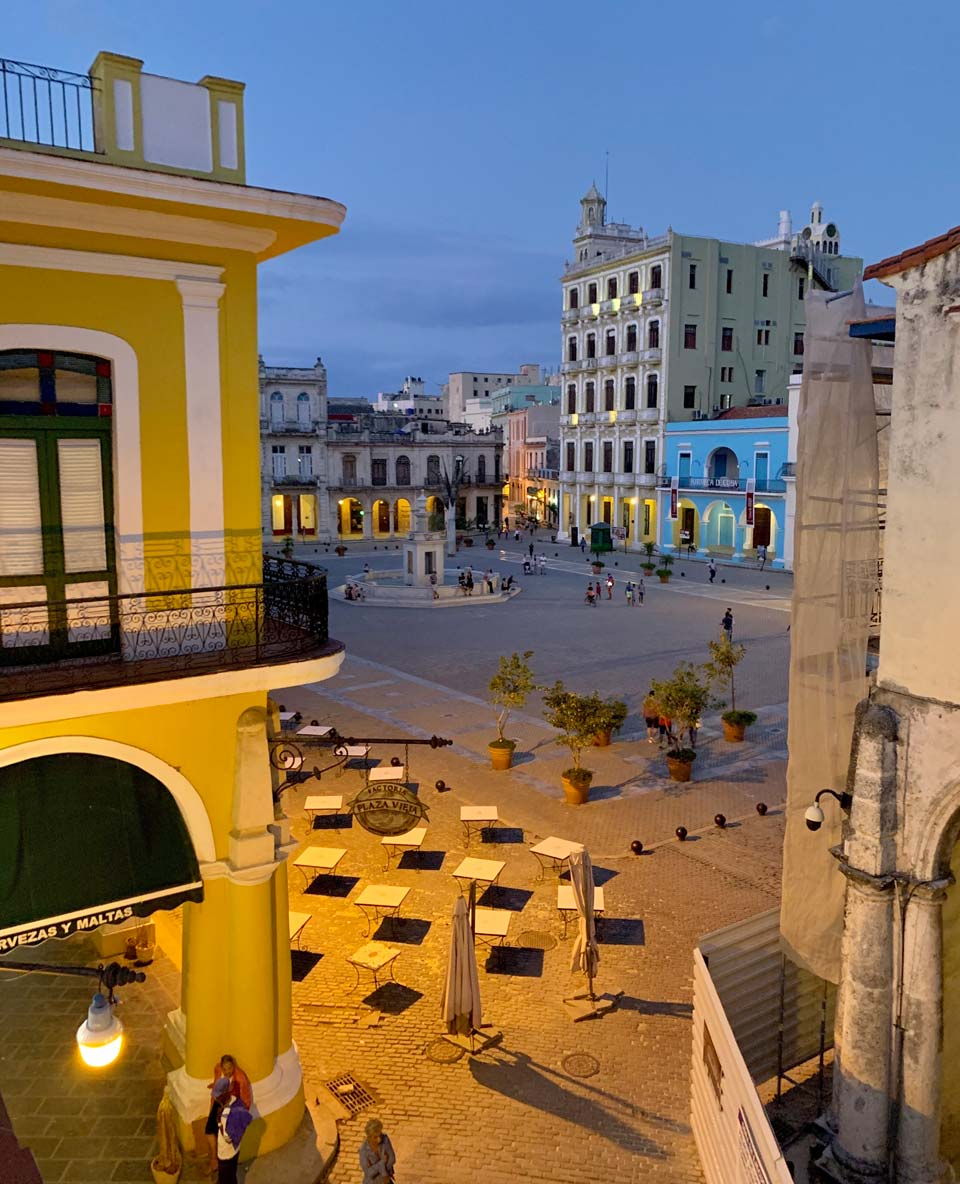 Plaza Vieja, as viewed from the rooftop of our Casa Particular (private guesthouse) in Old Havana.