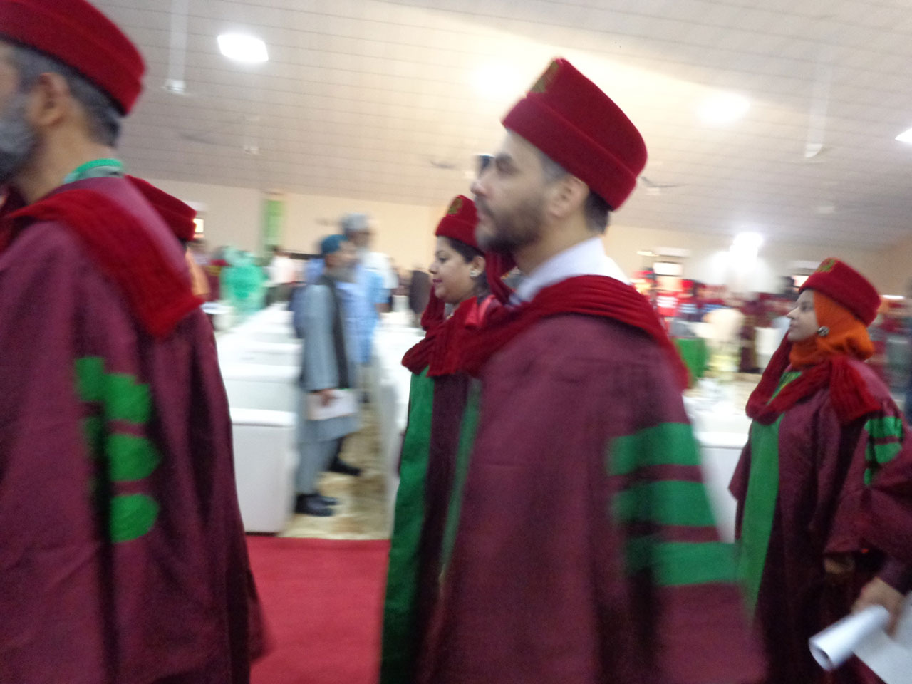 Dr Kiran A. Rehman is in the Faculty procession