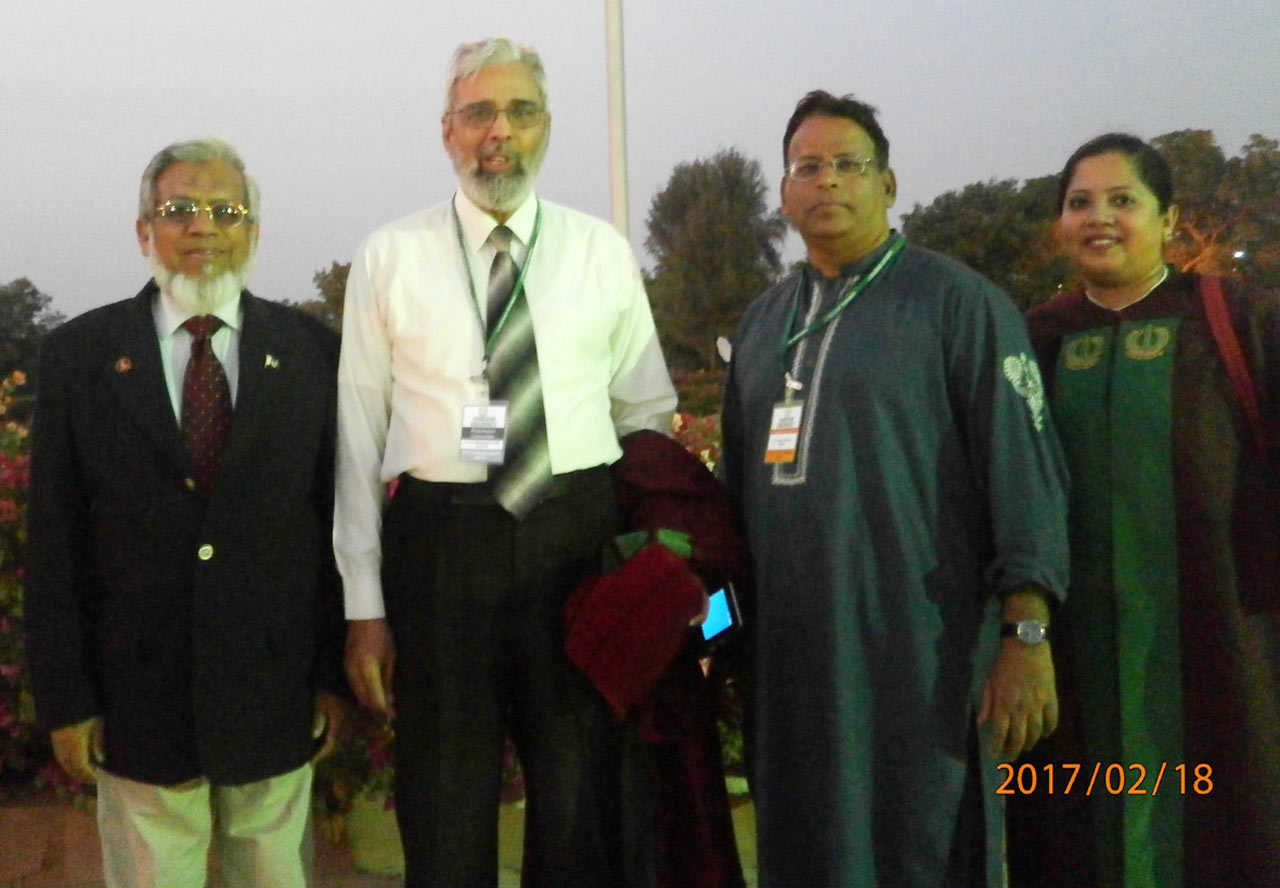 Engr. Iqbal Ahmed Khan, Dr. Furqan Ahmed Principal Hamdard Medical College, Dr Ata Ur Rehman and Dr. Kiran A. Rehman