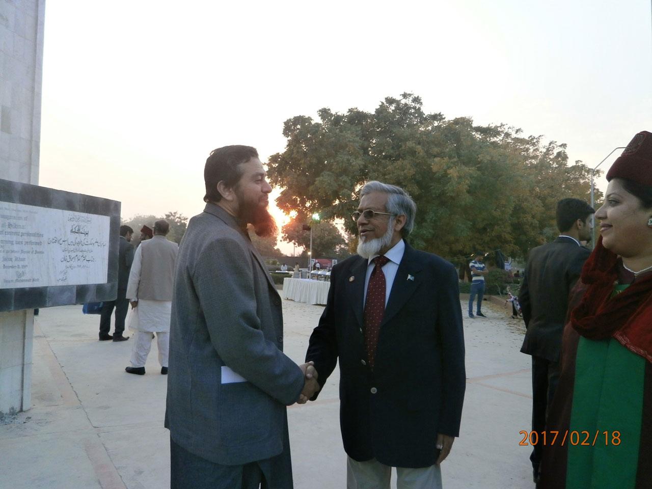 Engr. Iqbal A. Khan meeting Engr. Ayaz Mirza of IEP, KC