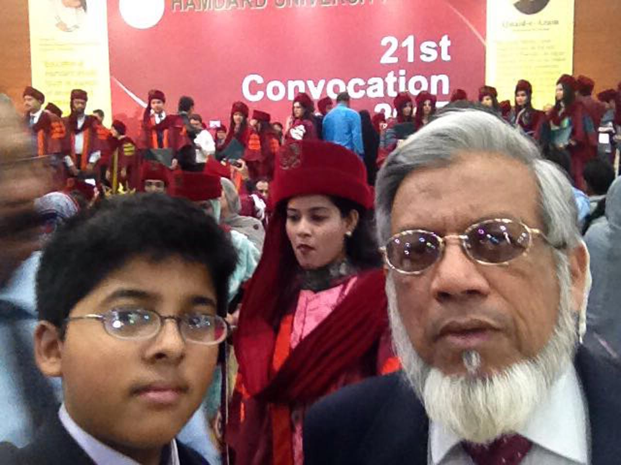 Habib Ur Rehman and Engr. Iqbal A. Khan in the Convocation Hall