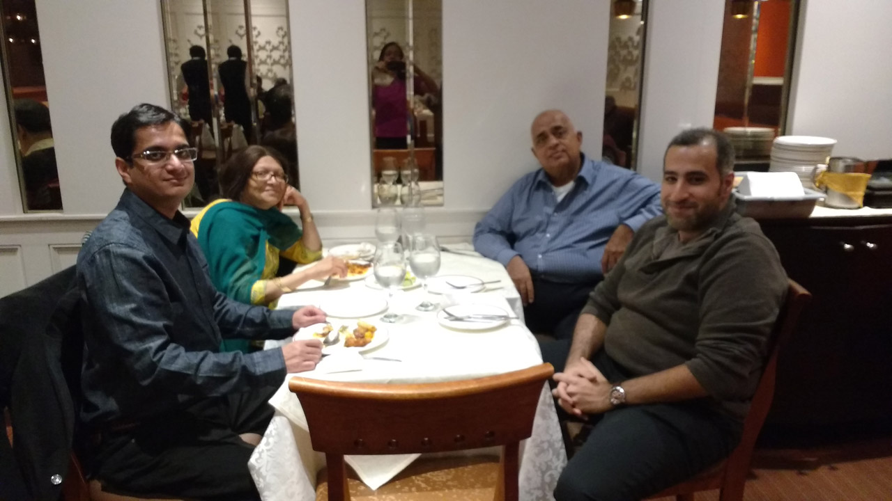 Fr L to R: Ahmed Munir ( from Cleveland, Ohio), Bibi Patel, Mohamed Patel, and Maher Al Maher