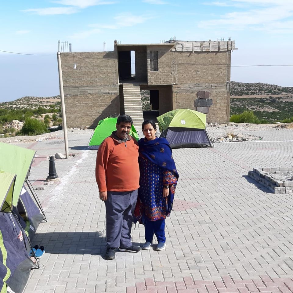 Imran and Erum at the camp site