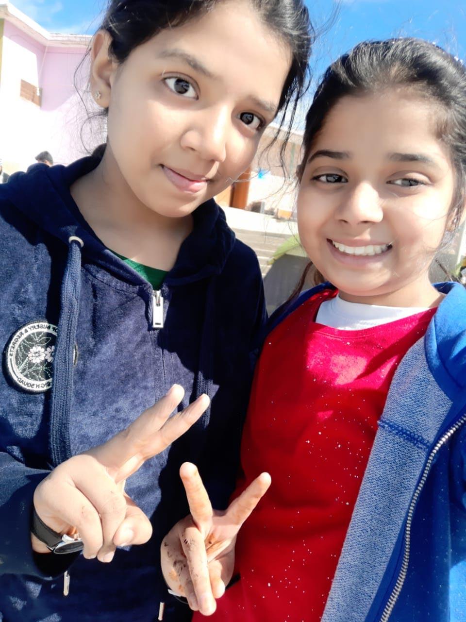 Zoya and Zara enjoying the Gorakh Hills