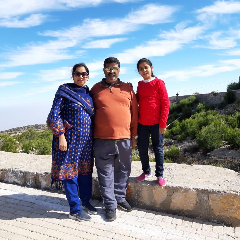 Erum, Imran and Zara are at the sloop site of the Gorakh Hill Station