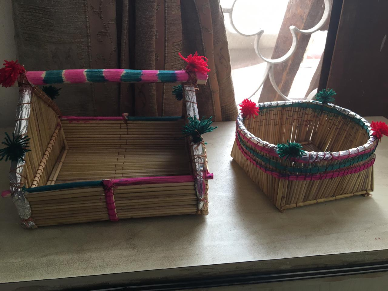 Two of the handicrafts we bought from Makli graveyard.