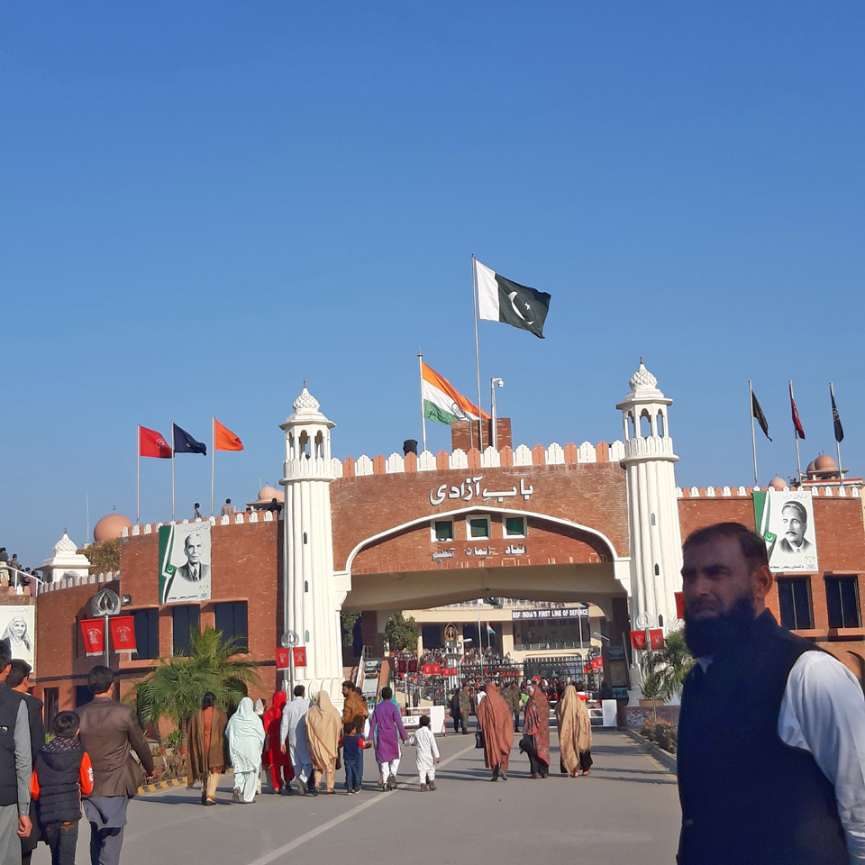 The entrance to Wagah border.