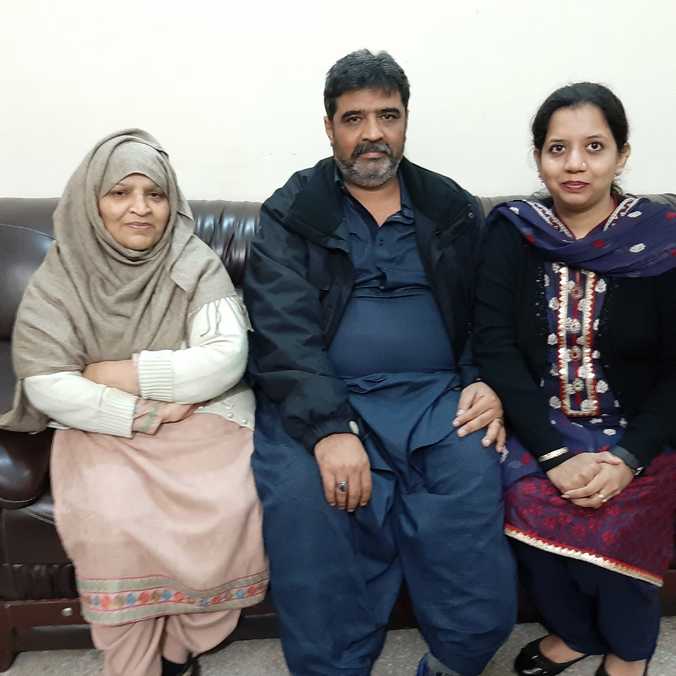 Imran and Erum are with the Aunt of Imran Khan in Lahore.