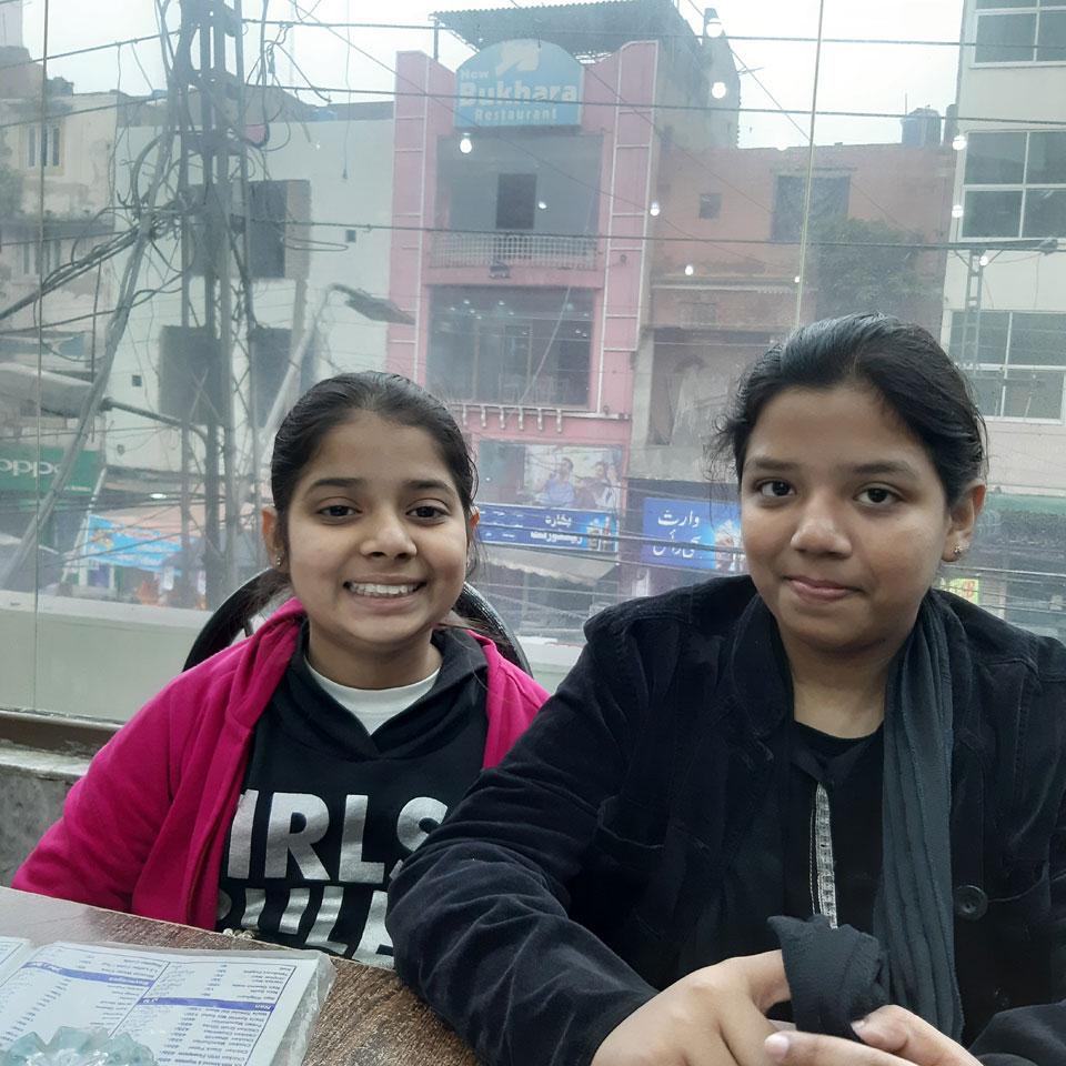 Zoya and Zara enjoying in Anarkali Bazaar Lahore.