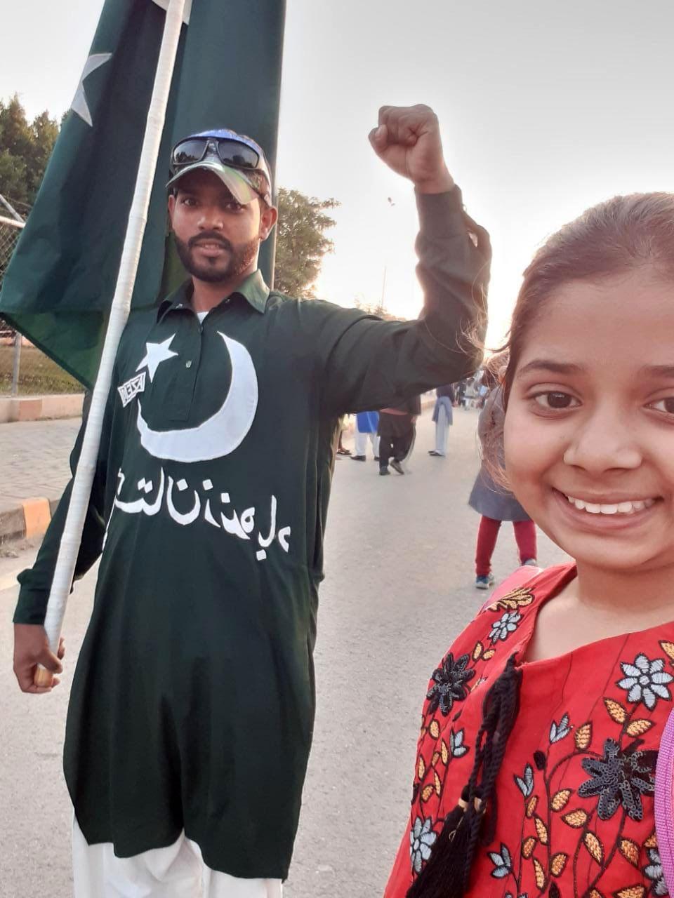 Zara Imran with one volunteer of Rangers