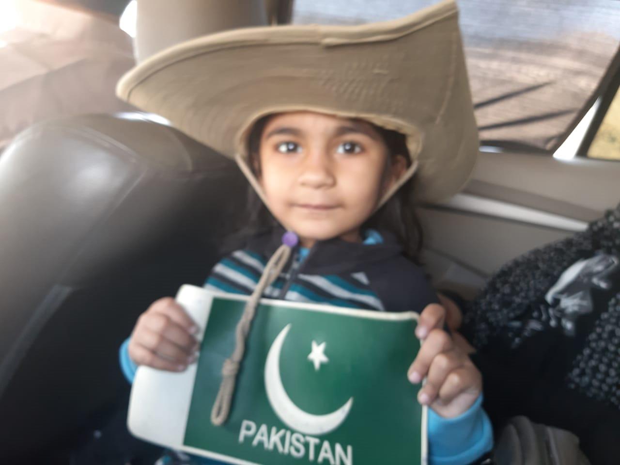 Ayesha Dad Khan being patriotic.