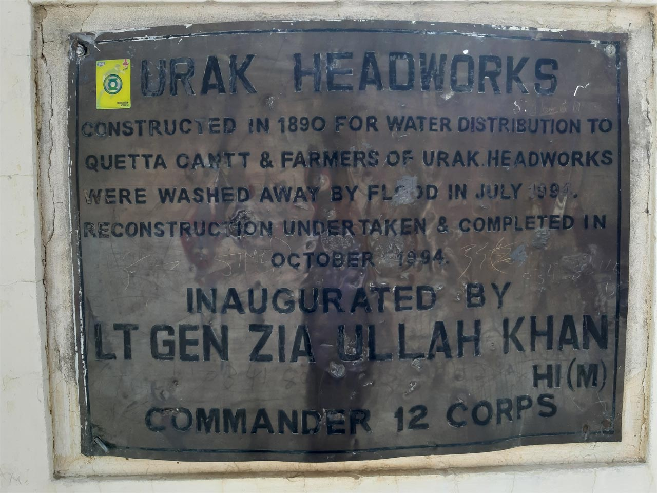 A Foundation Stone for the Reconstructed Hanna Urak.