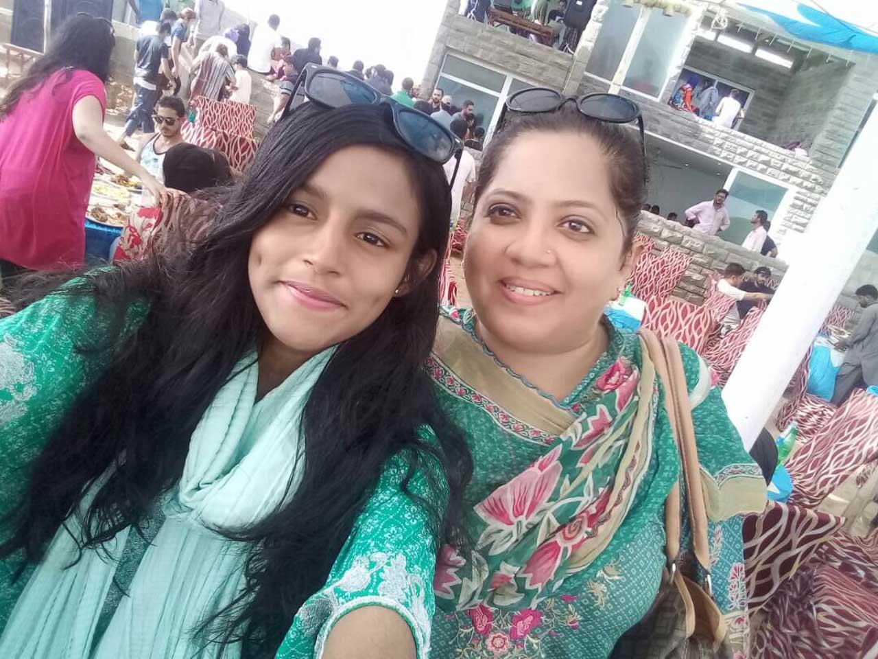 Hadiya Bari with Dr. Kiran A. Rehman