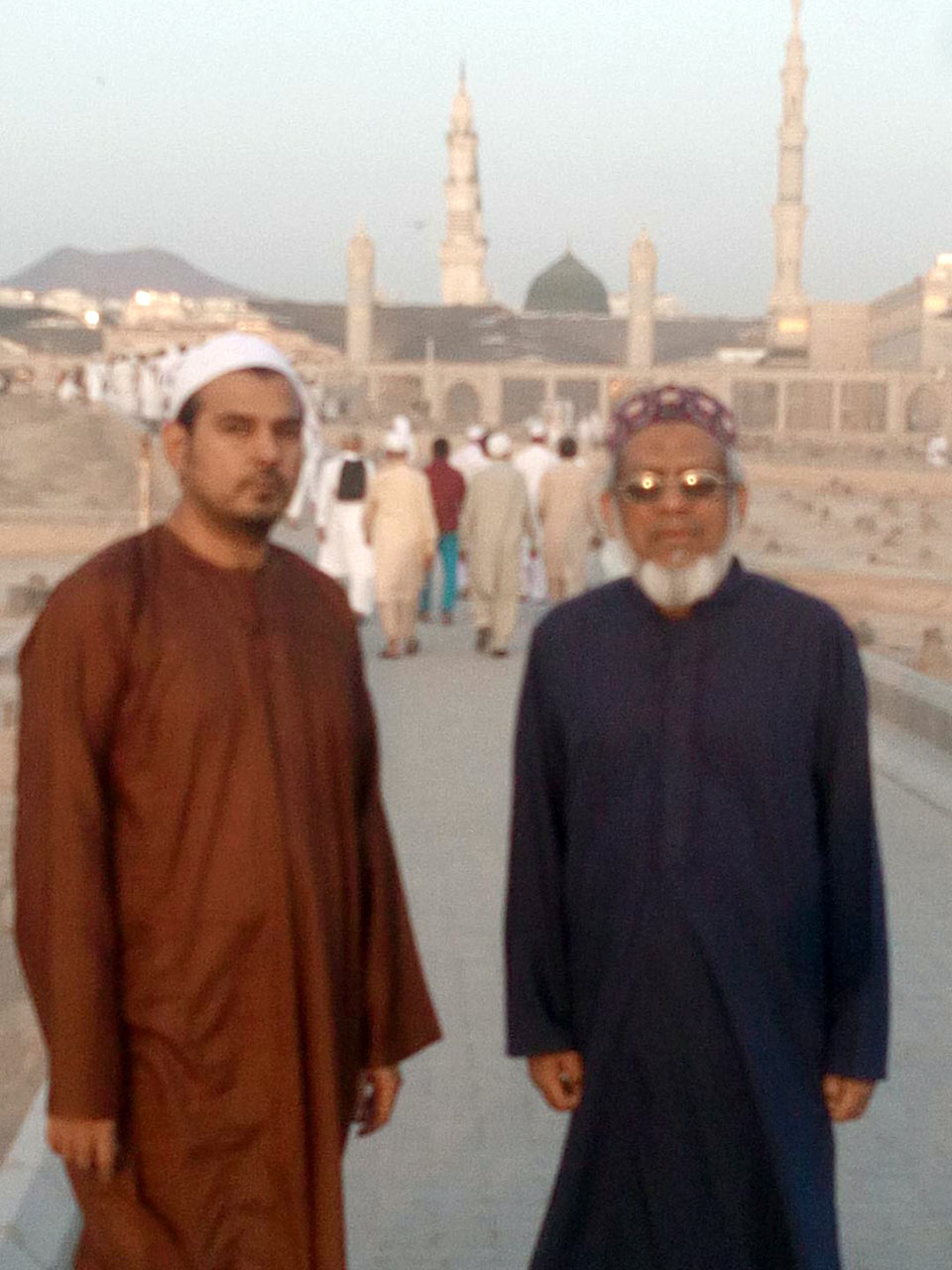Kamran A. Khan and Engr. Iqbal A. Khan are inside the Jannat Ul Baqi