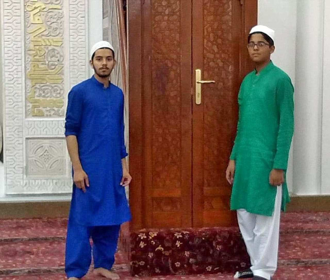 Obaid Ur Rehman and Habib Ur Rehman inside The Masjid-e-Nabwi