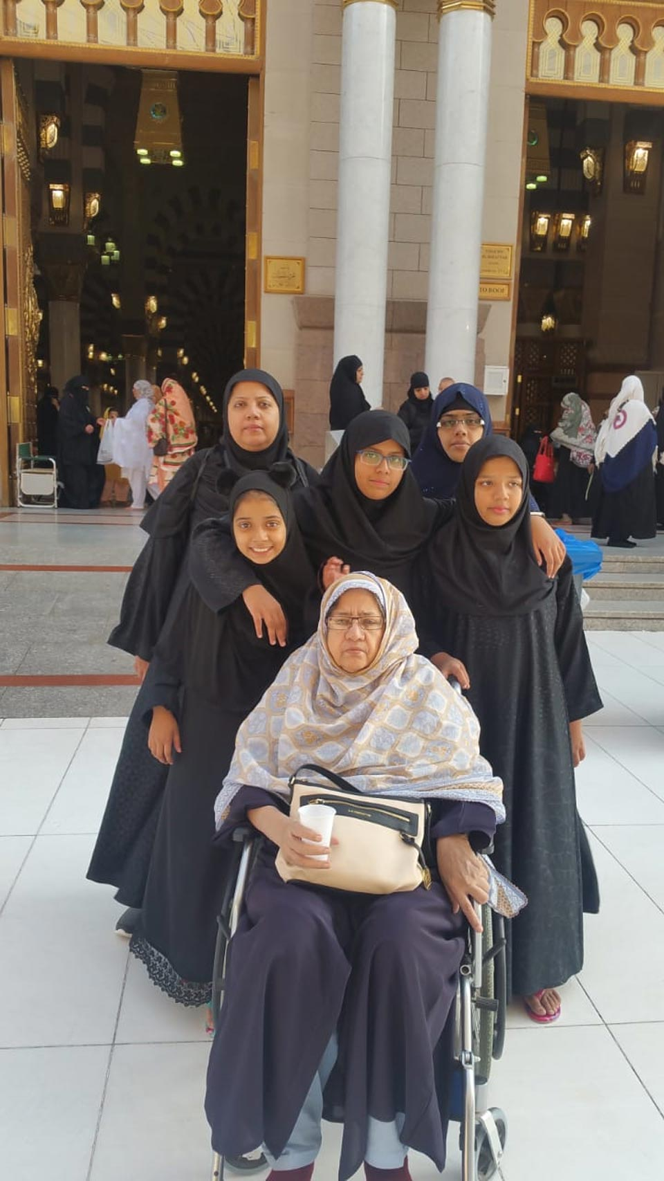Mrs. Zohra Iqbal with her daughter and grand daughters