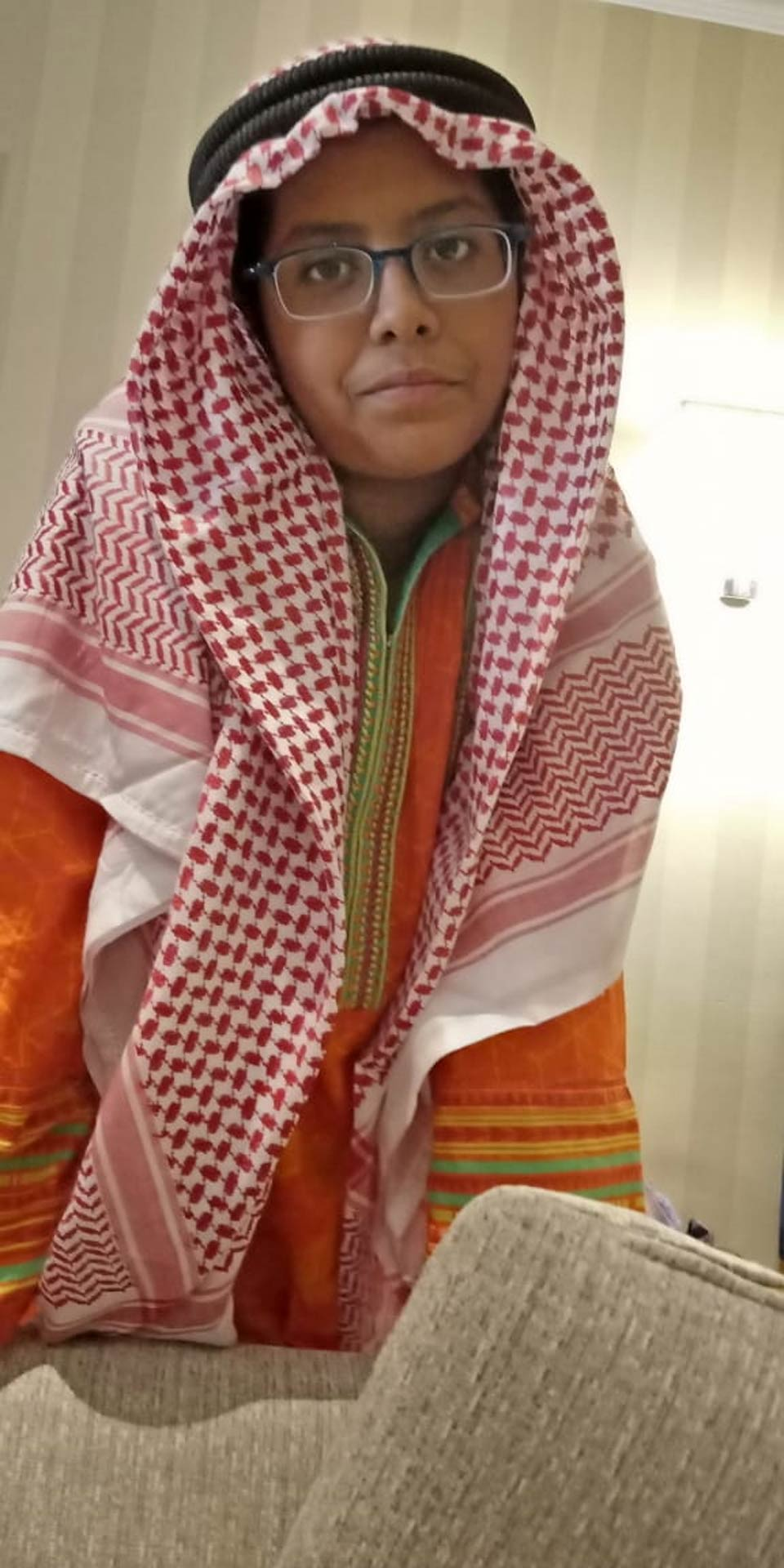 Mariam A. Rehman in Saudi outfit